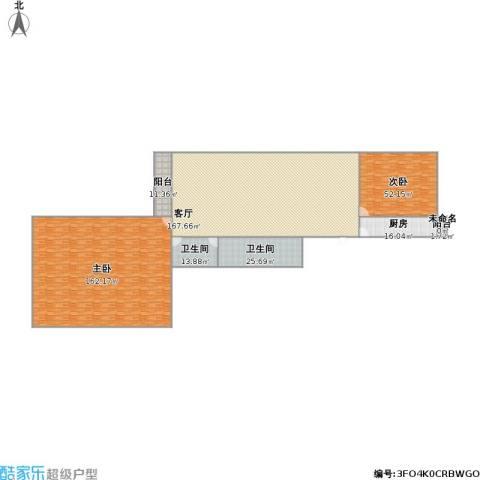 龙锦苑东三区2室1厅2卫1厨580.00㎡户型图