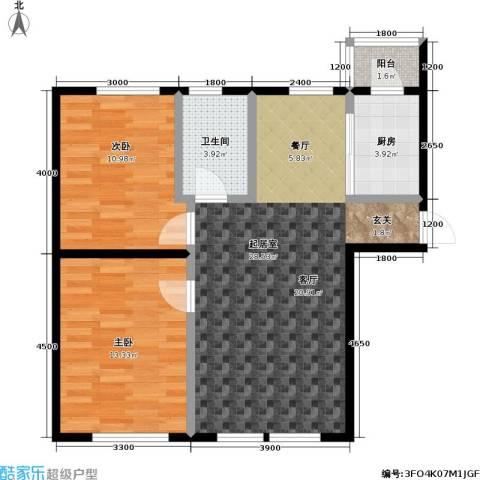 衡逸园2室0厅1卫1厨85.00㎡户型图