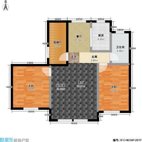 衡逸园2室0厅1卫1厨97.00㎡户型图
