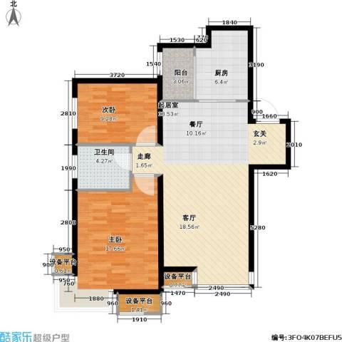 第一城D组团2室0厅1卫1厨84.00㎡户型图
