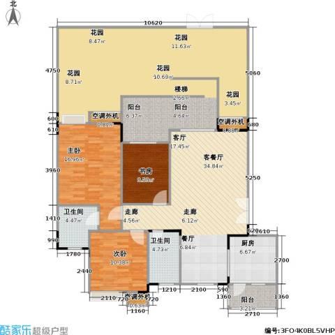 福江・名城 名城3室1厅2卫1厨147.95㎡户型图