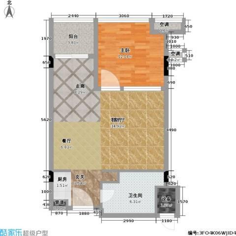 巴厘原墅1室1厅1卫0厨68.00㎡户型图