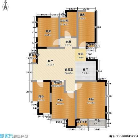 美达浅草明苑3室0厅1卫1厨128.00㎡户型图