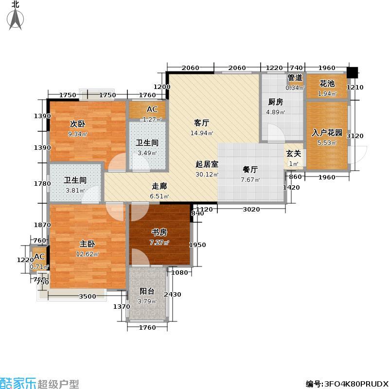 中环・滨江丽景92.00㎡房型户型