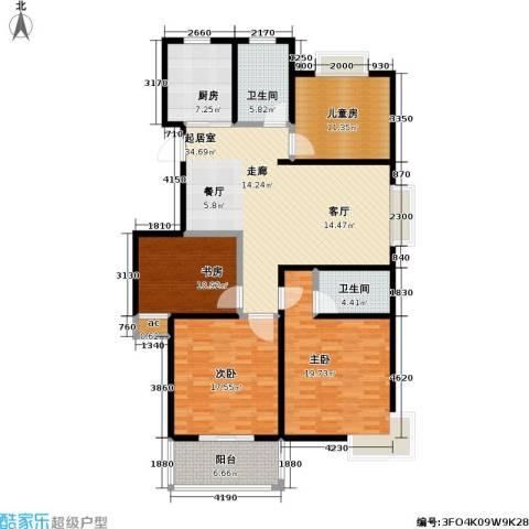 江南佳园4室0厅2卫1厨134.00㎡户型图