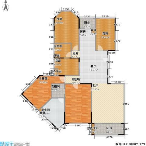 金域华庭3室1厅2卫0厨187.00㎡户型图