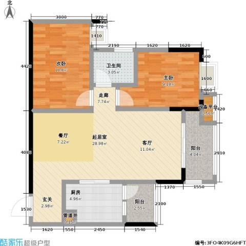 保利・康桥2室0厅1卫1厨94.00㎡户型图