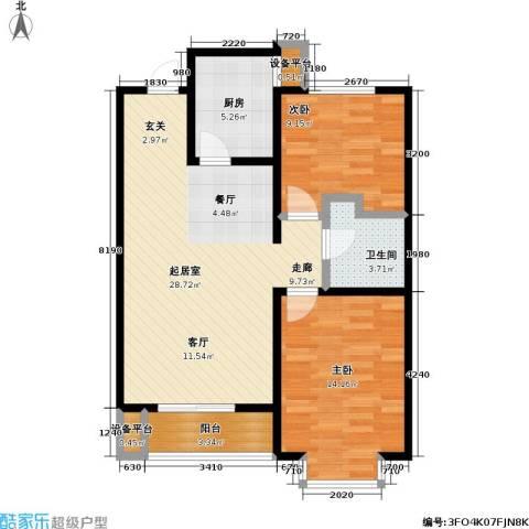 碧水名门二期2室0厅1卫1厨93.00㎡户型图