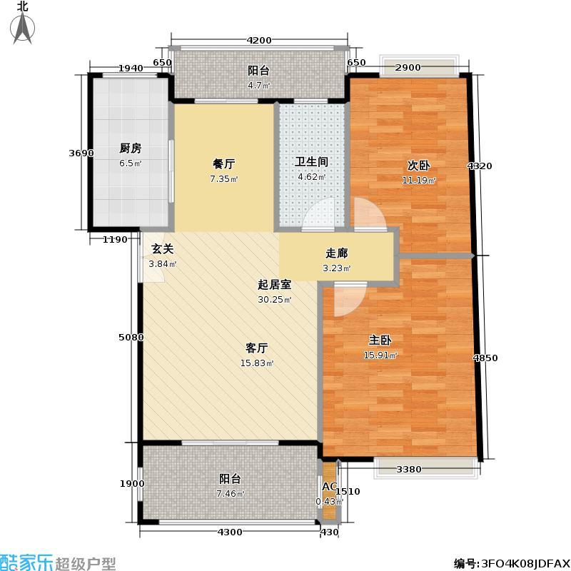 宏宇未来海岸89.61㎡房型户型