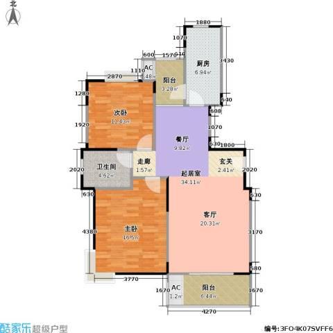 唯亭锦泽苑2室0厅1卫1厨112.00㎡户型图