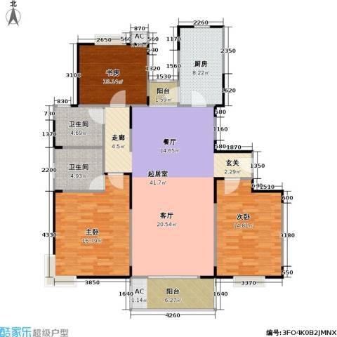 唯亭锦泽苑3室0厅2卫1厨123.00㎡户型图