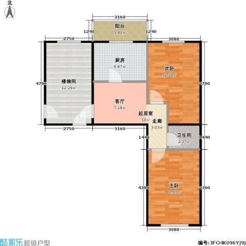 沈新园2室0厅1卫1厨69.00㎡户型图