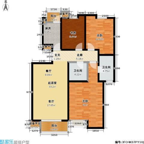 美达浅草明苑3室0厅2卫1厨139.00㎡户型图