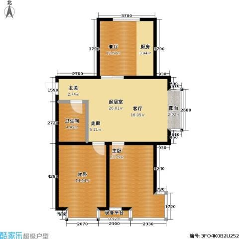 碧水名门二期2室1厅1卫0厨101.00㎡户型图