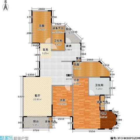 金域华庭2室1厅2卫0厨154.00㎡户型图