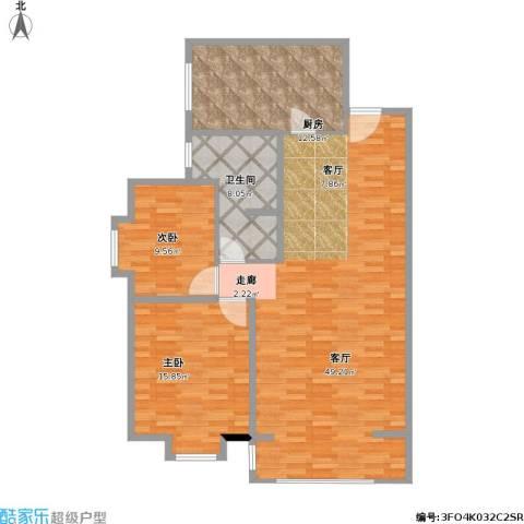 鸣翠苑2室1厅1卫1厨130.00㎡户型图
