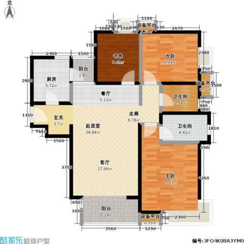 瞰海3室0厅2卫1厨122.00㎡户型图