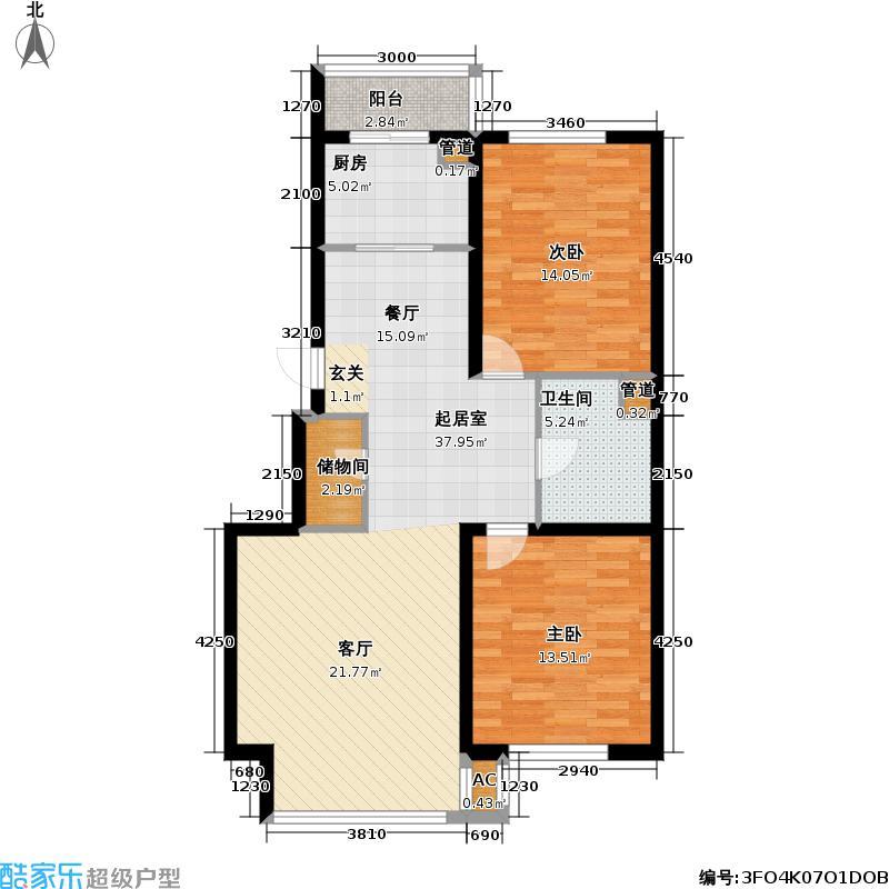 恒泰骏景94.00㎡ 住宅  户型