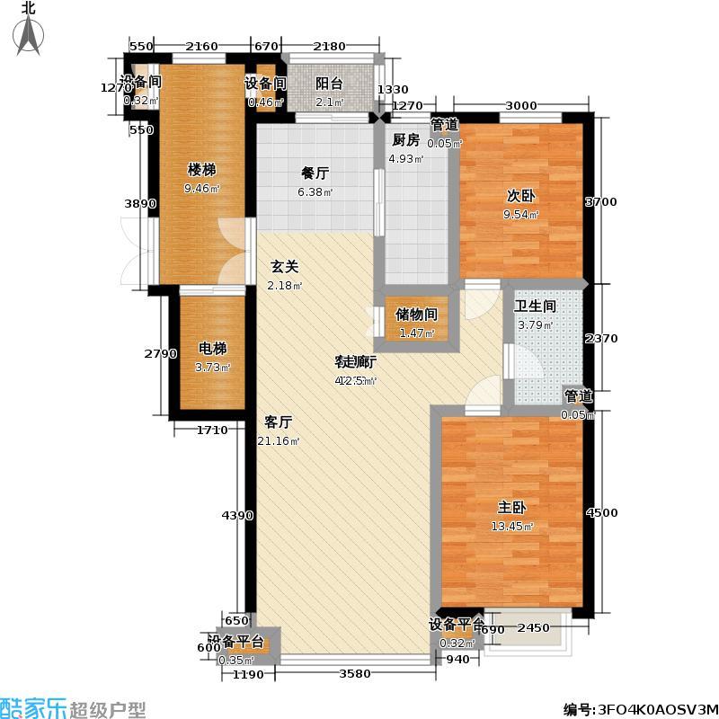 高校建赏欧洲98.00㎡房型户型