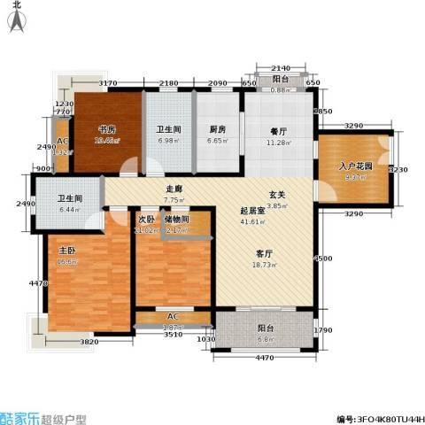 石湖华城三期 华城豪庭3室0厅2卫1厨139.00㎡户型图