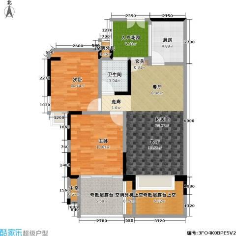 雷圳碧榕湾海景花园2室0厅1卫1厨74.00㎡户型图