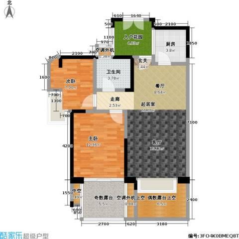 雷圳碧榕湾海景花园2室0厅1卫1厨75.00㎡户型图