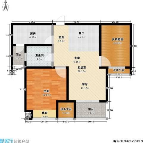 置地新唯花园1室0厅1卫1厨106.00㎡户型图