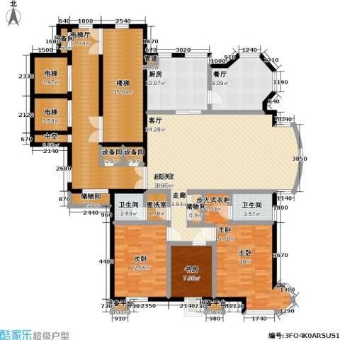 高校建赏欧洲3室1厅2卫1厨175.00㎡户型图
