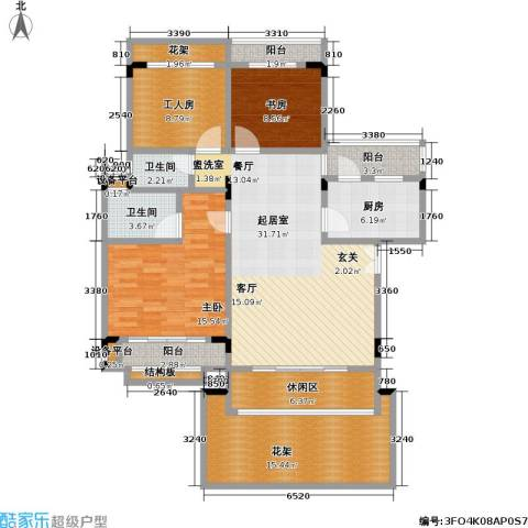 建工未来城一期2室0厅2卫1厨109.58㎡户型图