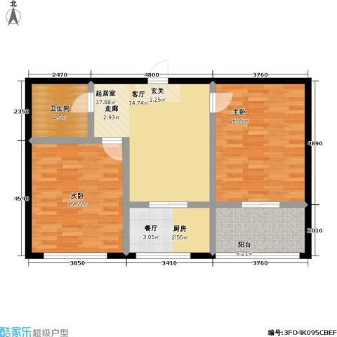 南阳小区2室0厅1卫1厨95.00㎡户型图
