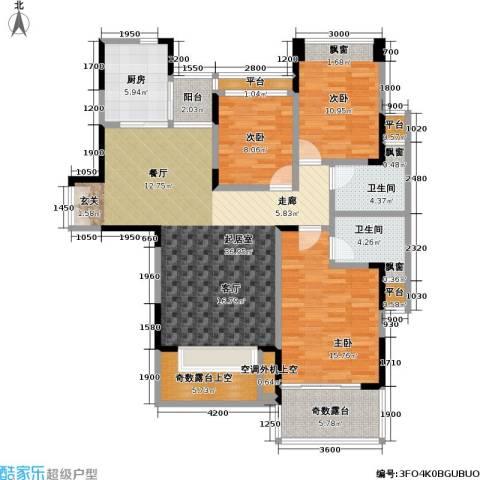 雷圳碧榕湾海景花园3室0厅2卫1厨115.00㎡户型图
