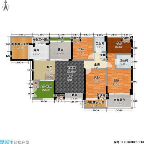 雷圳碧榕湾海景花园3室0厅2卫1厨123.00㎡户型图
