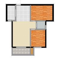 澜点家园澜点家园两室两厅一卫88平户型2室2厅1卫-副本