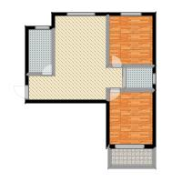 澜点家园两室两厅一卫户型2室2厅1卫-副本