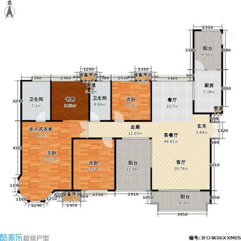 中海湖滨一号3室1厅2卫1厨201.00㎡户型图