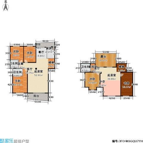芳卉园(二期)5室0厅3卫1厨206.57㎡户型图