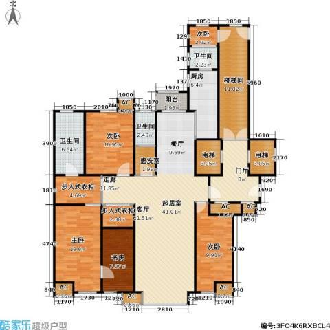 奥泰格林山水城5室0厅3卫1厨197.00㎡户型图