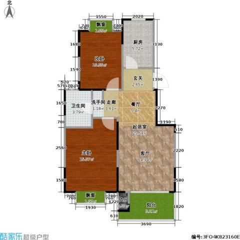 湖岸名家2室0厅1卫1厨91.00㎡户型图