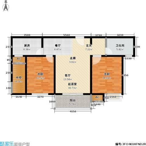 石湖华城三期 华城豪庭2室0厅1卫1厨94.00㎡户型图