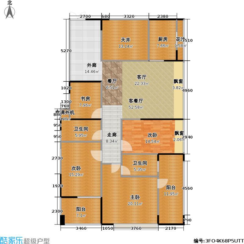 君汇新天君汇新天户型图B奇数层1栋C、D、E座两厅四房两卫(13/14张)户型10室
