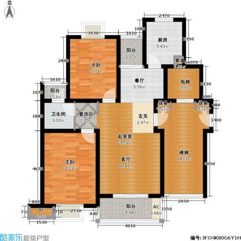 爱涛艺郡临枫2室0厅1卫1厨89.65㎡户型图