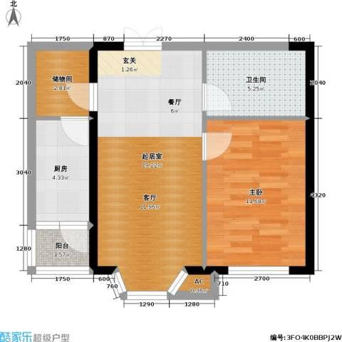 碧海尚城1室0厅1卫1厨59.00㎡户型图