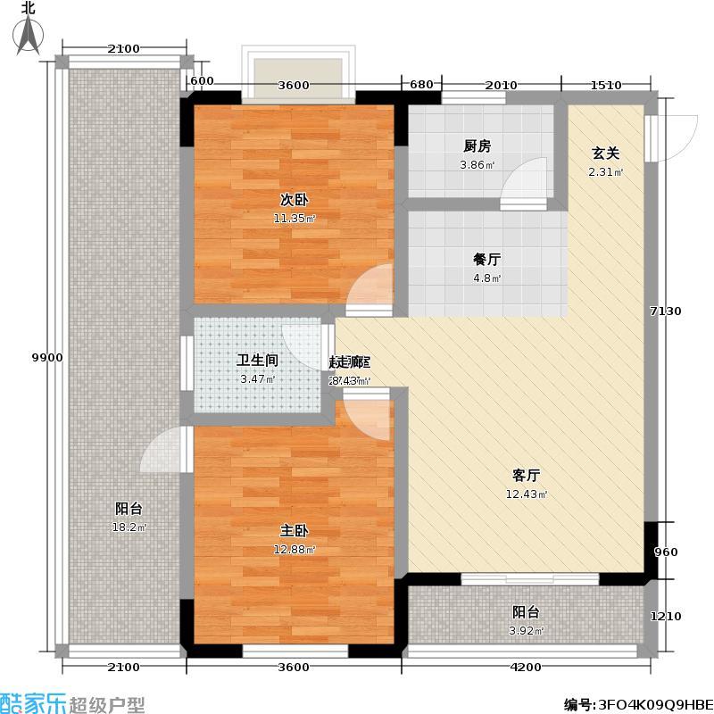 香山美筑--3套户型