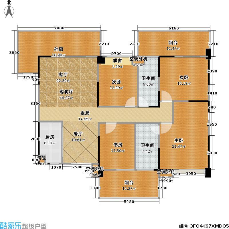 君汇新天君汇新天户型图A偶数层1栋C、D、E座两厅四房两卫(7/14张)户型10室