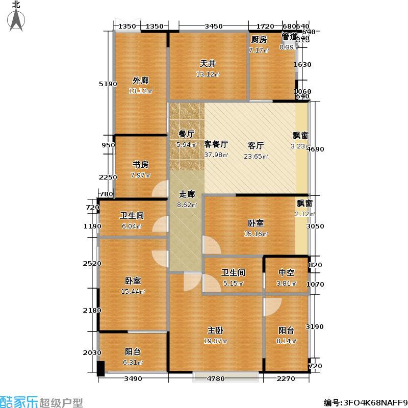 君汇新天君汇新天户型图B偶数层1栋C、D、E座两厅四房两卫(12/14张)户型10室