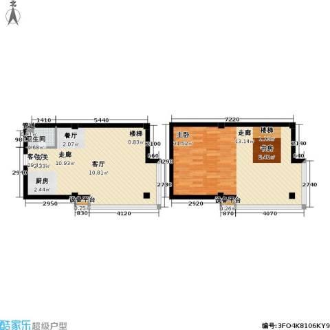 吴越新天广场1室1厅1卫0厨70.24㎡户型图