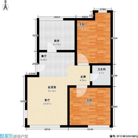 阳光棕榈园2室0厅1卫1厨87.00㎡户型图