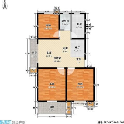 石桥润泽园3室0厅1卫1厨111.00㎡户型图