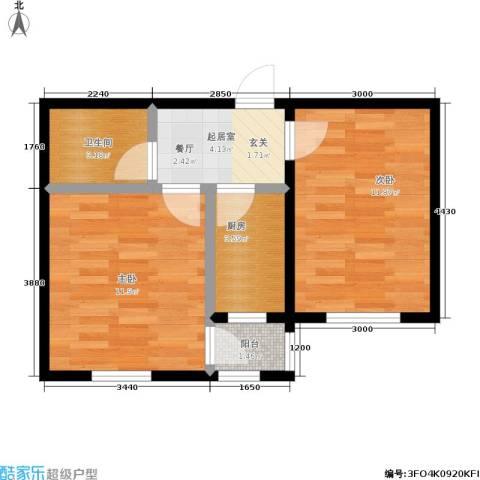 新里摩尔公馆2室0厅1卫1厨52.00㎡户型图