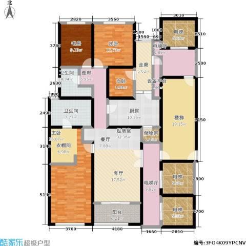 淮海晶华4室0厅2卫1厨210.00㎡户型图